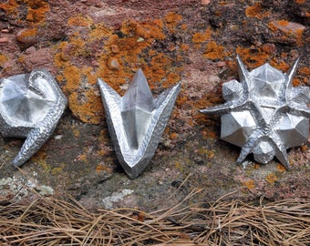 Solid Aluminum Spiritual Stones - Legend of Zelda Ocarina of Time Inspired Props