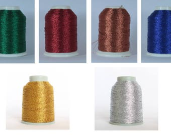 Metallic thread Altin Basak thread for tatting, thread for oya needle thread metal gold golden silver blue green red copper copper shuttle