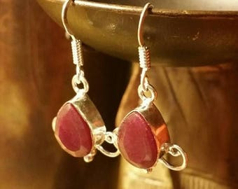 """Holiday SALE 85 % OFF 70 Percent Off Coupon: """"MLK70"""" Garnet Jewelry  Earrings Tribal Ethnic Gemstone  .925 Sterling  Silver  #Etsygifts Sale"""