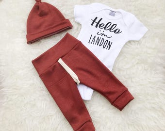 Hello I'm New Here, Hello Im New Here, Hello World Newborn Outfit, Hello World Newborn Baby Boy Outfit, Coming Home Outfit Baby Boy