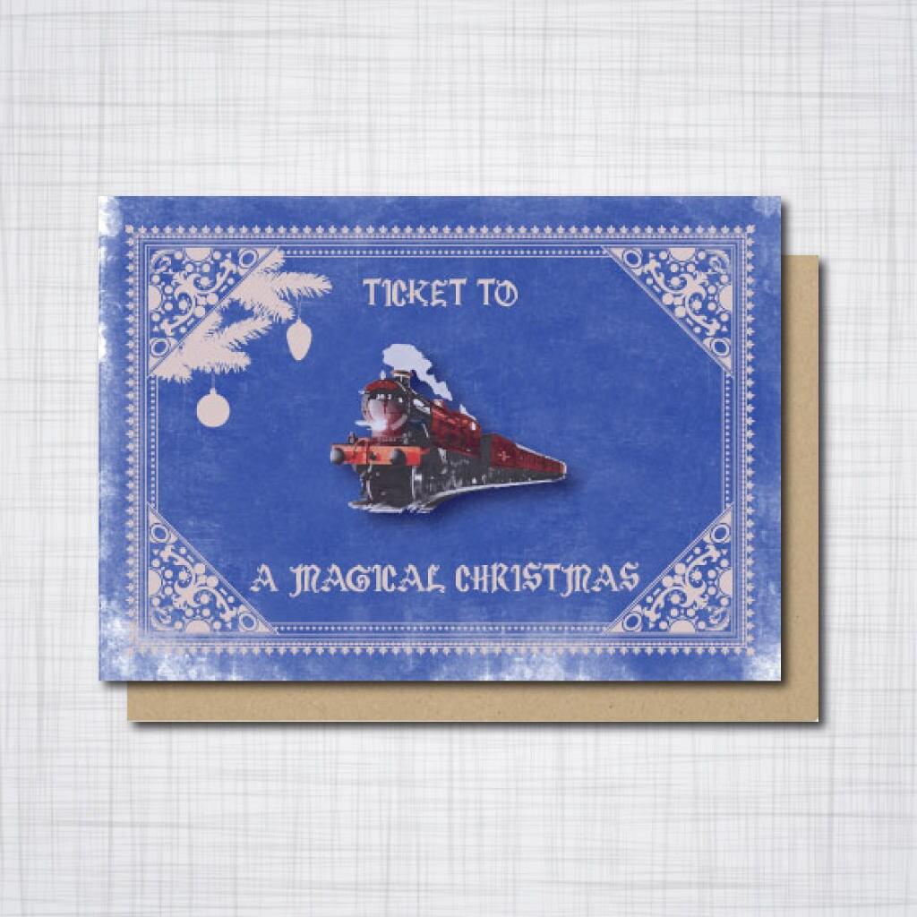 Hogwarts Express Christmas Card, Harry Potter Ravenclaw Geek ...