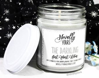 The Darkling | 9oz jar | Grishaverse, Shadow and Bone Inspired Bookish Soy Candle | Book Candle | Bookish Gift