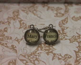 Mary ~ Francis Earrings ~ Mary Queen Of Scots ~ Reign ~ Queen Mary ~