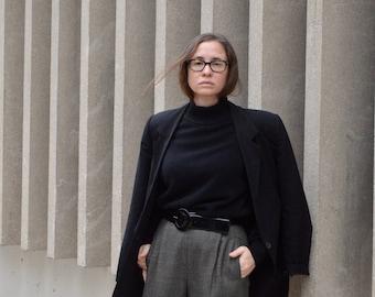 Vintage Max Mara Black Rayon Blazer, Woman size 42