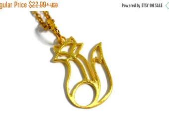 XMASINJULY Gold Fox Necklace - 14 Karat Gold - Fox Jewelry - Fox Charm - gold necklace - animal necklace - dainty gold - gold fox - fox pend