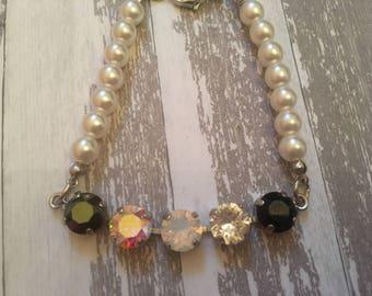 Pearl and Swarovski Bracelet