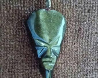 Vintage Gold Sheen Obsidian Pendant #2