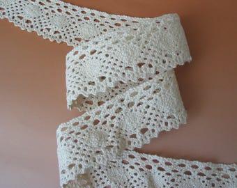 Cotton lace ecru 3.90 cm same as front/back
