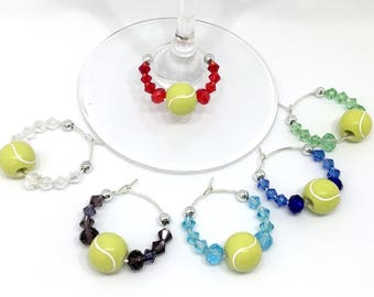 Tennis Lover Wine Charms