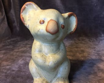 Vintage stoneware R Moss Koala piggy bank cash money bank
