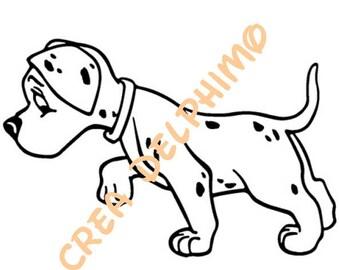 Stiker CHIEN1 Dalmatian dog sticker