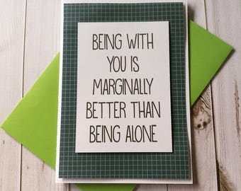 cheap Valentines card, funny valentines card, cheeky anniversary card, funny anniversary card, valentines card for boyfriend, valentine's