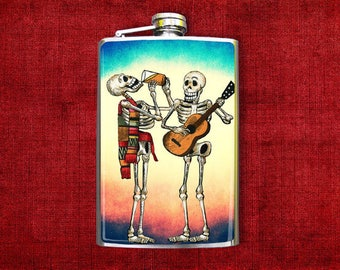 Flask 8oz Drinking Buddies #384