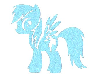 MY LITTLE PONY Iron On Design, My Little Pony Costume, Rainbow Dash Lover, Brony, Birthday Party, Halloween and Dress Up