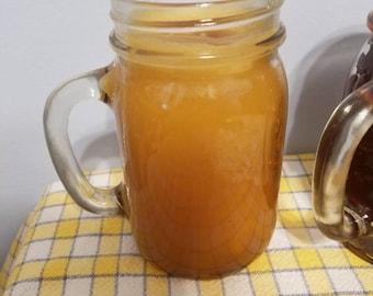 Scented mason jar mug candle
