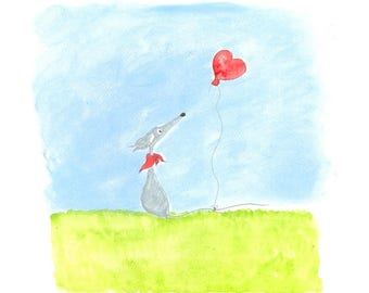 The Red Balloon -  available as a print or a card