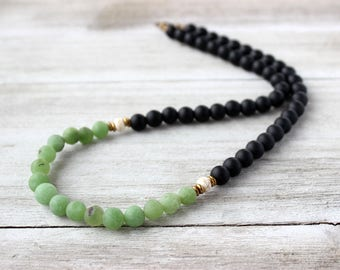 Mens Green Necklace