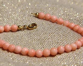1st choice genuine pink coral bracelet.