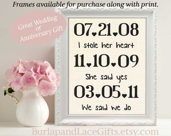Linen Anniversary 4th Anniversary Gift to Wife Couples Gift Engagement Gift for Wife Husband Gift Bridal Shower Gift Weddings  (ana101)