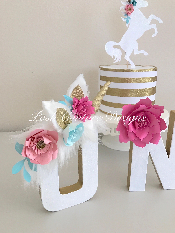 Unicorn floral letters unicorn letters unicorn first for Cosas de casa deco