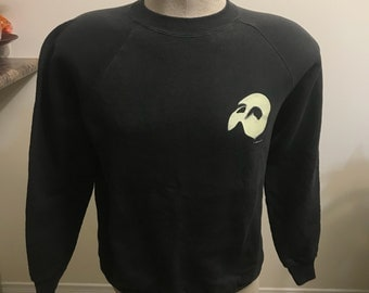Vintage The Phantom of the Opera Crewneck sweatshirt size medium 50/50 1986