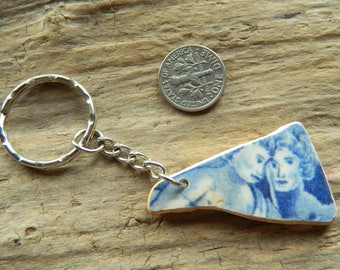Sea pottery shard key ring