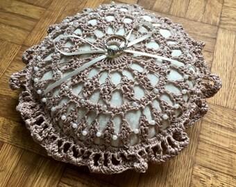 Vintage ring bearer cushion