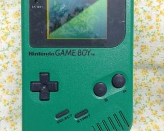 Original Green gameboy; gameboy color; three game bundle