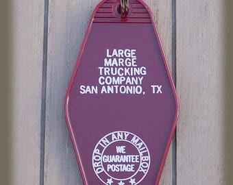 "Pee Wee Herman Large Marge Trucking Company 2 sided "" Tell em Large Marge sent ya"""