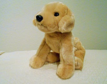 """Ty Beanie Buddy """"Muffin"""" The Golden Labrador Retriever/12"""" Tall/Rare and Hard To Find/Tush Tag Only/Fluffy And Adorable!!"""