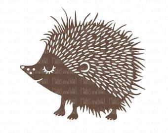 Hedgehog svg/png/dxf cricut/silhouette digital cutting file/woodland svg/animal svg/folk style svg/folk hedgehog svg/hedgehog svg/HTV