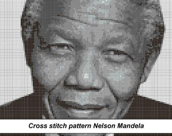 Nelson Mandela, Madiba Cross Stitch Pattern