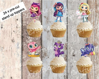 24 x Edible Pre Cut Little Charmers Stand Up Cupcake Toppers