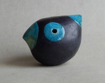 Bird-whistle,ceramicsRaku,art and collecting,bird figurine,blu,musical instethnica,natural,folklore,original gift,figurine,ceramic sculpture