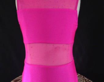 Custom Leotard, Ballet Leotard, Mesh Leotard, Child's Leotard, Small Leotard, Pink Leotard, Convention Dancewear, Custom Dancewear