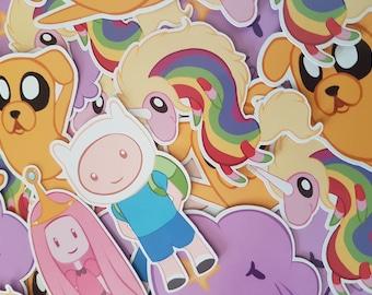 Adventure Time Stickers Finn Jake Lump Space Princess Rainicorn Princess Bubblegum Anime Nerd Geek Video Game