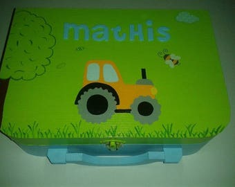 "Lunch box customizable ""tractor"" theme"