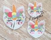 Unicorn Feltie Unicorn Heart Feltie Embroidery File