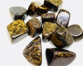 Bronzite polished tumbled Stone. Natural authentic stones. Size 15-20mm.