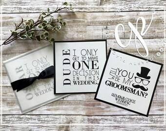 Groomsman personalized proposal card  / Groomsman gift / Printed and shipped / Best man, Groomsmen, Jr Groomsmen, Usher, Ring bearer