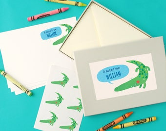 Personalised Boy's Notecards Writing Set (2 designs available)