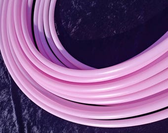 Pastel pink 5/8th hdpe Collapsable for Travel with Push Pin Lock dance performance hula hoop