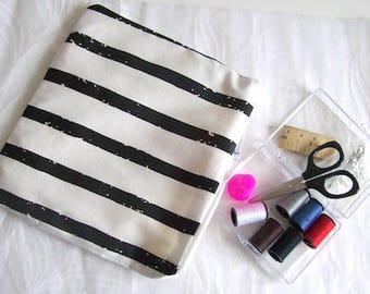sewing travel kit sewing kit black stripe mini sewing bag black and white stripe