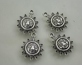 Tribal style, sun pendants // 4PC