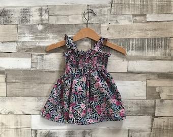 Floral Baby Dress | Floral Print Dress | Toddler Dress | Floral Pattern Dress | Pink Baby Dress | Floral Sundress