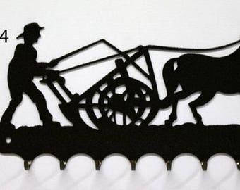 Hangs 26 cm pattern metal keys: farmer in the cart