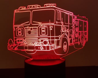 Lamp 3D pattern: fire truck