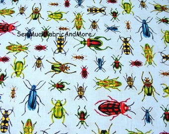 Insects bugs Fabric~By the yard & 1/2 yard~Everyday Living~Robert Kaufman~Cotton