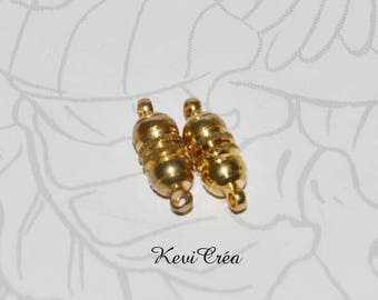 5 x 17mm gold tone magnetic clasps