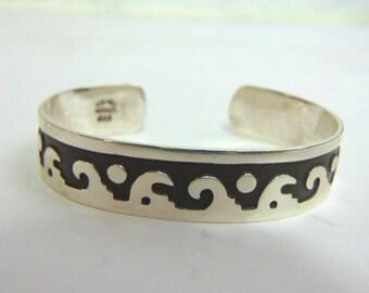 Estate Sterling Silver Cuff Bracelet 22.9g E3487